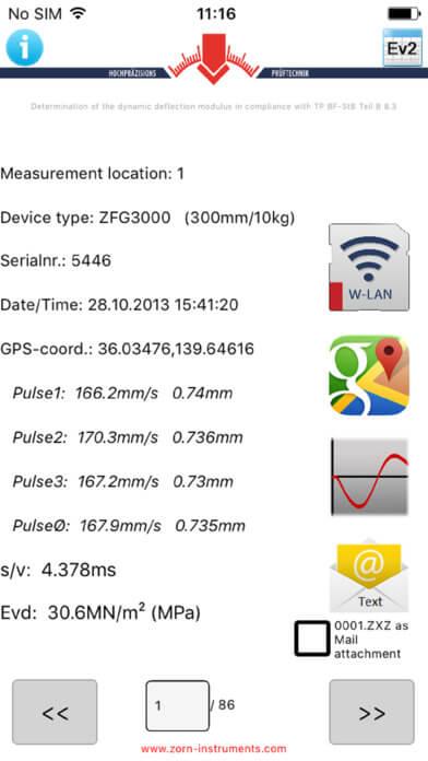 Light Weight Deflecometer Data Viewer