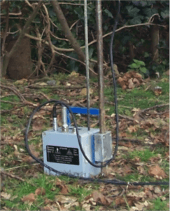 Dynamic Cone Penetrometer DCP PANDA Central Acquisition Unit (CAU) on Ground