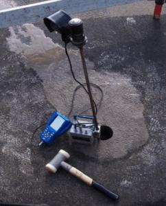 Dynamic Cone Penetrometer DCP PANDA Setup with Predrilling