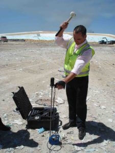 PANDA Dynamic Cone Penetrometer (DCP) on landfill