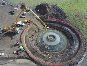 Mt Gelliband Wind Farm Acciano Wind Turbine Foundation Plate Load Test