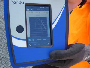 PANDA Instrumented Dynamic Cone Penetrometer DCP Anvil Close Up